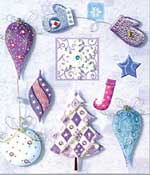Purple Christmas - 3D Decoupage Stickers