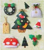 Christmas Tree & Santa Suit - 3D Decoupage Stickers