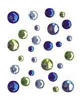Self-Adhesive Round Green & Blues