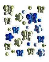 Self-Adhesive Butterflies & Flowers Greens/Blues