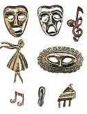 Opera & Ballet Metal Embellishments