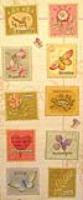 Brianna Postage Stamp Embossed Stickers