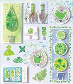 Gardening Theme - 3D Decoupage Stickers