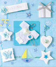 Blue Baby Gro- 3D Decoupage Stickers