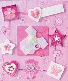 Pink Baby Gro- 3D Decoupage Stickers