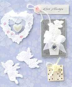White Cupids - 3D Decoupage Stickers