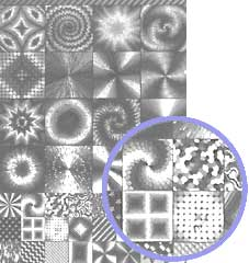 Silver A4 Card: Elements Silver Squares Toppers Range