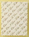 Deckled Panel - Foil Printed 'One I love' Panel
