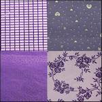 Flock & Metallic Purple Pack of 4 Scrapbooking Paper 12 x 12""