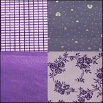 """Flock & Metallic Purple Pack of 4 Scrapbooking Paper 12 x 12"""""""