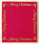 Xmas Panel - Large Merry Christmas Border Panel - Red & Gold
