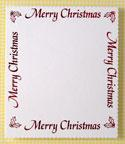 Xmas Panel - Large Merry Christmas Border Panel- White & Red