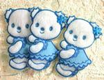 BEAR Soft White Bears with Blue Trim