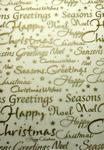 Christmas Greetings (Embossed Gold) - Vellum Paper