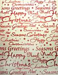 Christmas Greetings (Embossed Red) - Vellum Paper