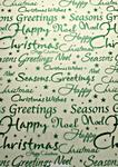 Christmas Greetings (Embossed Green) - Vellum Paper