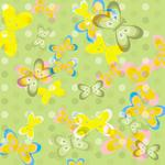 SC Double Sided Retro Butterfly Design Paper
