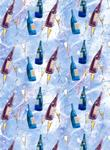 Glitter Celebration Bottles Design A4