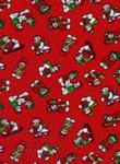 Self-Adhesive A4 Snowmen Fabric Design