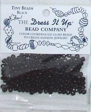 Black Tiny Glass Beads
