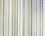 Diecut Silver Glitter Ribbon Borders