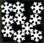 Snowflake Brads - Wh...