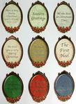 Gold Embossed Christmas Oval Plaques