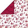 Designer 2-Sided Christmas Trees and Sleighs Scrapbooking Paper