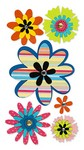 Flowers with Rhinestone Stickers