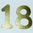 Diecut '18' Gold