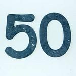 Diecut Mulberry Glittery ''50''