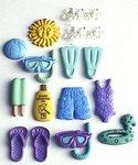 Swimming Theme Embellishments