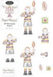 Rugby Man - Decoupage Paper