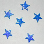 STARS Mini Shiny Stars - Blue