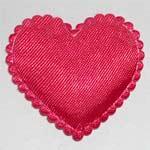 HEART Bright Red Satin Heart