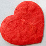 Small Diecut Hearts - Red pack of 10