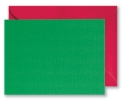 Green Blank Cards & Red Envelopes