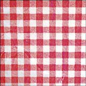 Machined Mulberry Paper - Red Checked