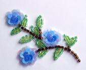 FLOWER Blue Sequin Flowers