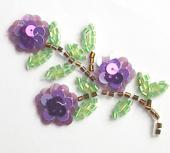 Purple Sequin Flowers